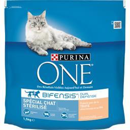 Purina One - Croquettes Bifensis spécial chat stérilisé à l... le sac de 1,5 kg