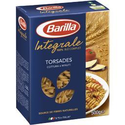 Torsades, pâtes alimentaires de semoule complète de blé dur