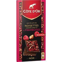 Chocolat noir éclats de noisettes caramélisées et fr...