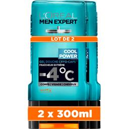 L'Oréal Men Expert de L'Oréal Gel douche Cryo Caps Cool Power fraîcheur extrême