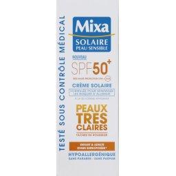 Crème solaire peaux très claires SPF 50+