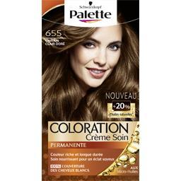 Coloration crème soin châtain doré 655