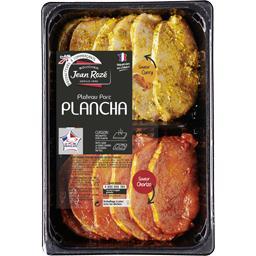 Plateau porc plancha mariné curry et chorizo