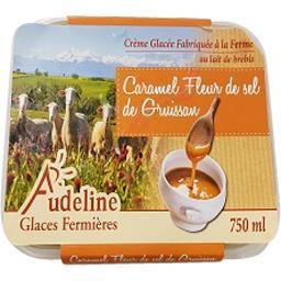 Audeline Crème glacée caramel fleur de sel de gruissan Le bac de 750ml