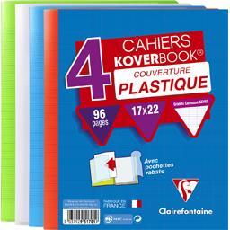 Cahier Koverbook rabats 170x220 seyes 4 couleurs ass...