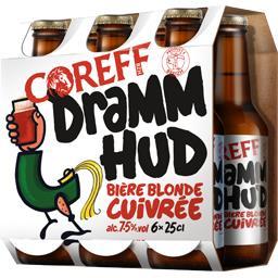 Bière blonde cuivrée Dramm Hud