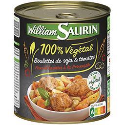 100% Végétal - Boulettes de soja & tomates