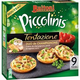 Piccolinis - Mini pizzas Tentazione duo de champignons