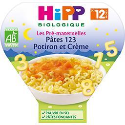 Pâtes 123 potiron et crème dès 12 mois BIO