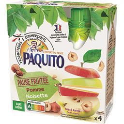 Paquito Pause fruité pomme noisette les 4 gourdes de 80 g