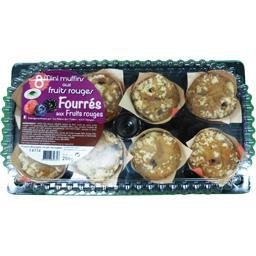 Délices des 7 Vallées Mini muffins aux fruits rouges fourrés aux fruits ro... la barquette de 8 - 208 g