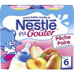 P'tit Goûter - Boisson lactée pêche poire, 6+ mois