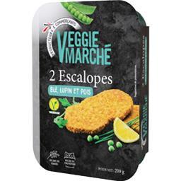 Veggie Marché Escalopes blé, lupin et pois la boite de 2 - 200 g