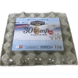 La Ferme du Mesnil Œufs frais datés la boite de 30 œufs