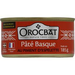Orocbat pâté basque au piment d'espelette boîte 185g