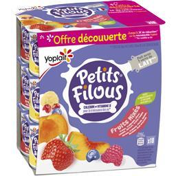 Yoplait Yoplait Petits Filous - Spécialité laitière aux fruits mixés