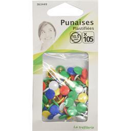 Punaises plastifiées 10,5mm différents coloris