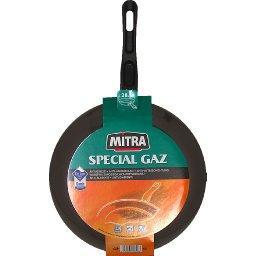 Poêle aluminium, spécial gaz + électricité, anti-adhésif, D28cm