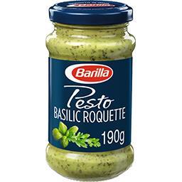 Sauce Pesto avec basilic et roquette