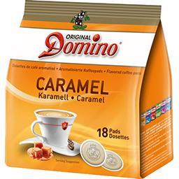 Dosettes de café moulu aromatisé caramel