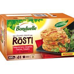 Légumes façon Rösti pomme de terre, courgettes, poivrons