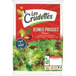 Les Crudettes Jeunes pousses d'épinard, laitue blonde & rouge