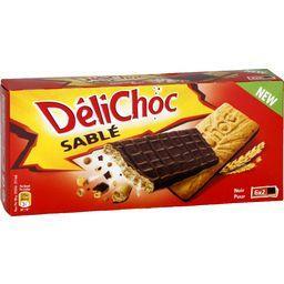 Délichoc - Biscuits sablé chocolat noir