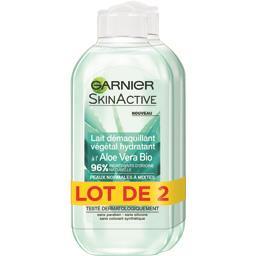 Garnier Lait démaquillant végétal hydratant à l'aloe vera le flacons de 200 ml