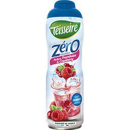 Sirop parfum framboise& Cranberry zéro sucres