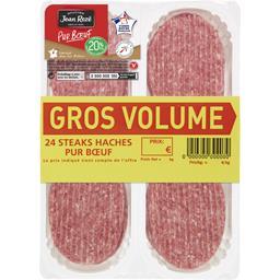 Jean Rozé Steaks hachés pur bœuf 20% la barquette de 24 - 2400 g