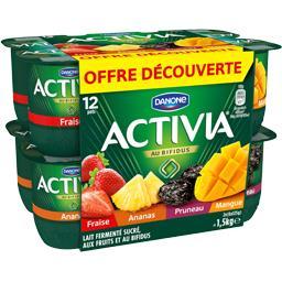 Yaourts aux fruits 3,5% MG, Activia de Danone