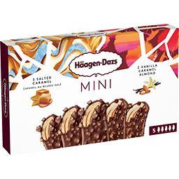 Mini bâtonnets de glace vanille caramel/caramel beur...