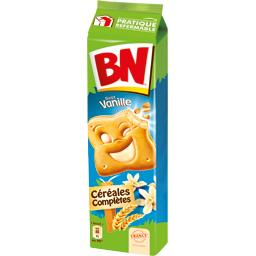 Biscuits céréales complètes goût vanille