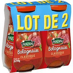 Panzani Sauce bolognaise le pots de 210 g