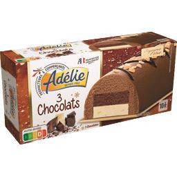 Glaces 3 chocolats