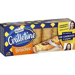 Les Grilletines - Petites tartines briochées