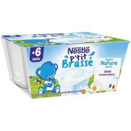 P'tit Brassé - Dessert saveur nature sucré, 6+ mois