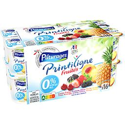 Printiligne - Yaourts fruits assortis Fruités 0% MG