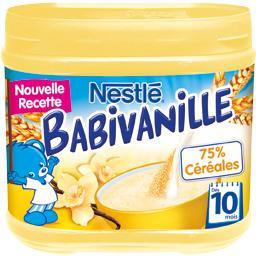 Nestlé Nestlé Bébé Céréales Babivanille, 10+ mois