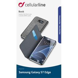 Etui rabat portefeuille noir pour Samsung Galaxy S7 Edge