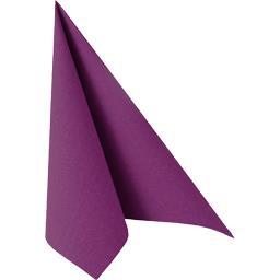 Serviettes pliage 1/4 25x25 cm Royal Collection violet