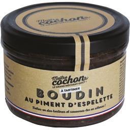 Boudin à tartiner au piment d'Espelette, Maître cochon, 180gr, bocal, Sodiporc