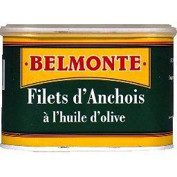 Anchois allongés à l'huile d'olive