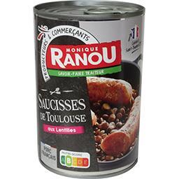 Saucisses de Toulouse aux lentilles