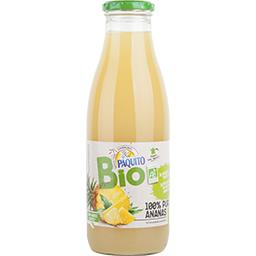 Bio Paquito 100% pur jus ananas BIO la bouteille de 75 cl