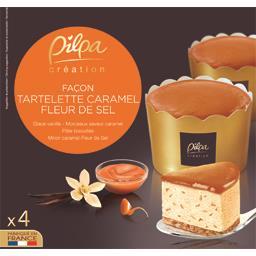 Glaces tartelette caramel Pilpa
