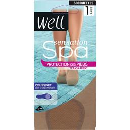 Sensation Spa - Socquettes transparent noir TU