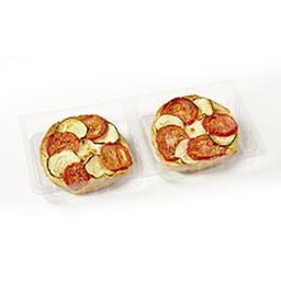 Tarte fine aux légumes du soleil et mozzarella