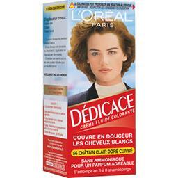 Dédicace 56, crème fluide colorante châtain clair do...