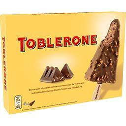 Bâtonnets glace au cacao-miel avec morceaux chocolat